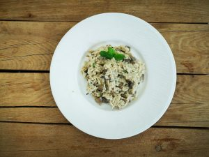 Kuhanje kao odmor ili rižoto s gljivama i mentom