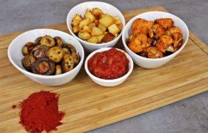 Španjolske, a obične gljive, cvjetača i krumpir ili Tres tapas