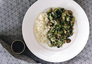U potrazi za ukusnim špinatom ili Špinat, kupus i gljive u woku- Dan 23.
