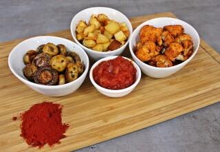 Španjolske, a obične gljive, cvjetača i krumpir ili Tres tapas. Dan 26.