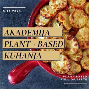 Akademija PLANT-BASED kuhanja, 3-5-9|11|2020