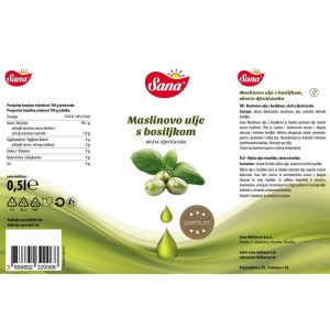 Maslinovo ulje s bosiljkom